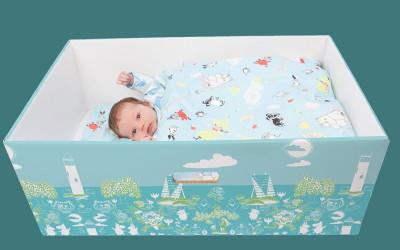 Faire dormir son bébé dans un carton pourrait sauver des vies